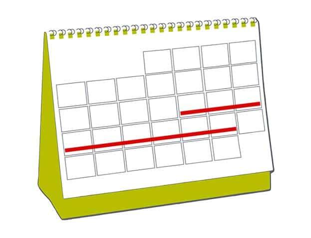 Pictogramme agenda de réservations