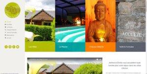 Screenshots nouveau site Gîtes Ty Coat