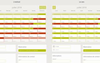 Screenshots du système de réservations